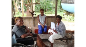 AA Interns working in PNG village